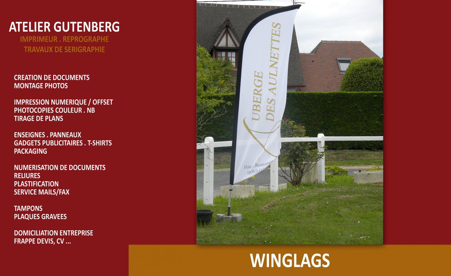 atelier gutenberg wingflag fait pour l'auberge des aulnettes
